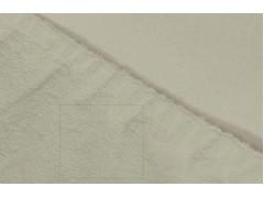 Простыня махровая на резинке (цвет молочный)