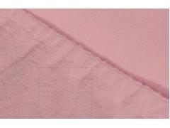 Простыня махровая на резинке (цвет розовый)