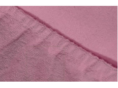 Простыня махровая на резинке (цвет фиолетовый)